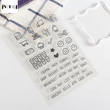 JWHCJ Expression graffiti transparent silicone stamp,children DIY Handmade Scrapbook Photo Album decor tools students soft Stamp(China)
