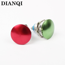 Free shipping 22mm metal mushroom press button switch Zn-al Alloy waterproof push button switch momentary 1NO 22MG/HJ,F.KL(China)