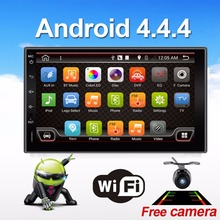 Quad core 2 din android 4.4 2din New universal Car Radio Double Car DVD Player GPS Navigation In dash Car PC Stereo video
