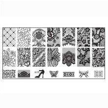 1PC Women Nail Art DIY Nail Stamp Stamping Image Plate Print Nail Art Template