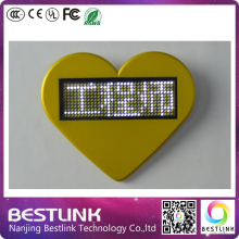 muti-color Christmas gifts led name badge cheap price led advertising screen led name tag diy kits programmable mini led sign
