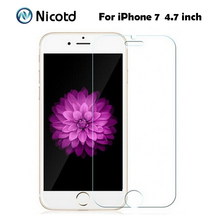 "For Apple iPhone 7 4.7"" Mobile Phone Tempered Glass 0.3mm 2.5D 9H Coated Clear ExplosionProof Screen Protector Film +Clean Tools(China)"