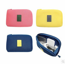 Candy colort travel shock resistant digital storage bag charging power supply data line charger cosmetic storage bag