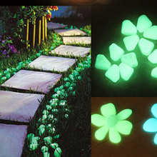 Fish Tank Night Stone Decorative Gravel For Garden Yard Cobbles Glow in the Dark Pebbles Stones for Walkway Decoration ZQ879228(China)