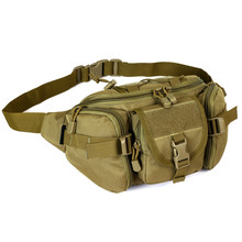 Outdoor Tactical Waist Pack Special Duty Weapons Tactics Sport Ride Motorcycle Waterproof Utility Waist Pouch Khaki