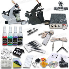 New Arrival Starter Tattoo Kit 2 Machine Guns 4 Color Inks Supply Grip Tips
