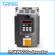 1.5KW Inverter HY 1500W VFD Spindle Inverter 220V 1.5kw Frequency Drive Inverter Machine For Spindle(China)