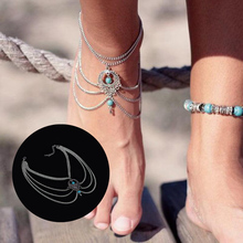 Boho Beach Beads Multi Tassel Chain Anklet Barefoot Sandals Foot Jewelry