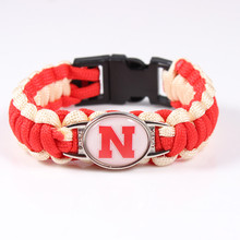 Nebraska Corhuskers NCAA Football Team Paracord Survival Bracelet Friendship Outdoor Camping Bangle Drop Shipping 2017