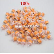 100PCS Small Engine Industrial Universal Bike Motorcycle Gas Filters Fuel FILTE 6.5mm Plastic Inline Fuel Gasoline Filter NEW(China)