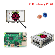 Raspberry Pi 3 Model B Board with 3.5'' TFT Raspberry LCD Touch Screen Display + Acrylic Case + Heat sinks For Raspbery Pi 3 Kit(China)