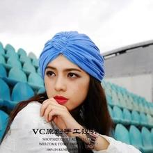 Hand Made New Arrival Woman Top Fashion Toe Cap Style Turban Female Muslim Personality Headbands Luxury Bandanas Hair Accessory