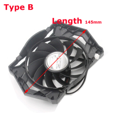 145MM Length Radiator Computer Heatsink Cooling Fan Graphics Card Cooler For Sapphire HD5670 HD6570 HD6670(China)