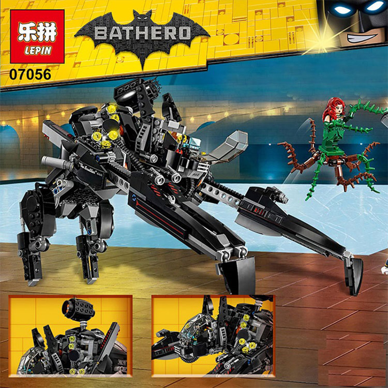 New 775Pcs 07056 Genuine Batman Movie Series The Scuttler Bat Spaceship Set Building Blocks Bricks Education Toys 70908<br>