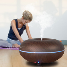 Wood Grain LED Night Light Essential Oil Ultrasonic Air Humidifier Electric Aroma Diffuser Aromatherapy Dry Protection Home Use