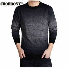 COODRONY Cashmere Sweater Men Brand Clothing Mens Sweaters Print Hang Pye Casual Shirt Wool Pullover Men Pull O-Neck Dress T 613(China)