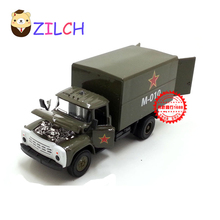 1:43 High imitation ETI Russian military supply alloy car model in original box pull back muical flashing toy for children(China)