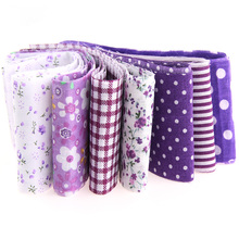 100% Cotton Knit Purple Series Fabric Cloth Strips For DIY Patchwork Sewing Craft Hair Clips 100cm*5cm 7pcs/lot TX-1-6(China)
