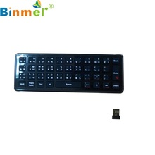 Beautiful Gift Brand New Q2 Russian Wireless Air Mouse Keyboard For TV Box PC Motion Sensing Games Wholesale price Dec19