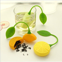 FoodyMine Tea Strainer Silicone Strawberry Lemon Design Loose Tea Leaf Strainer Bag Herbal Spice Infuser Filter Tools