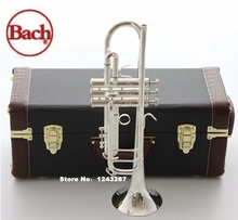 New Genuine Americano Top Bach trumpet gold and silver plated silver AB-190SBach small Musical instruments professional