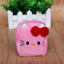 2PCS Square hello kitty coin bag baby shower favors kids birthday party decoration wedding gift souvenirs