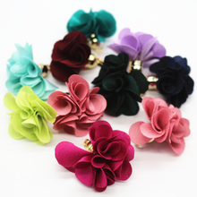 New Style 27mm Mix Color Flower Tassels For Jewelry Diy Earring Necklace Charms Cell Mobile Phone Straps Accessories 50pcs(China)