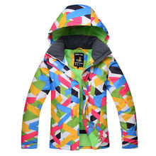 colorful woman Skiing jackets ladies Snowboarding clothing Winter Ski Suit Jacket Waterproof Windproof Thick girl Snow coats