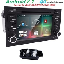 Free Camera 1024*600 QuadCore Android 7.1 Car DVD Player for Audi A4 2002-2007 S4 RS4 8E 8F B9 B7 RNS-E (DTV DAB+Optional) 2GRAM