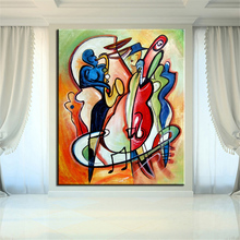 NO FRAME Printed MUSIC CUBIC ABSTRACT Oil Painting Canvas Prints Wall Painting For Living Room Decorations wall picture art