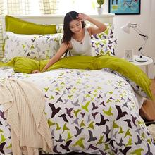 New cotton Duvet Cover set 3/4 pcs Cover Bedding set lattice style Queen Full Twin size fast shipping no quilt(China)