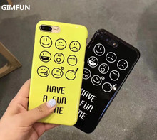 Buy GIMFUN Small Expression Smile Face Phone Case Iphone 8 8plus 6 6s 6plus 7 7plus Yellow Tpu Silicone Shell Case Back Cover for $3.86 in AliExpress store