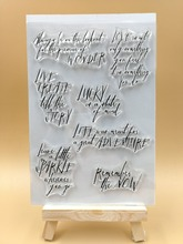 Commonly used words Transparent Clear Silicone Stamp/Seal for DIY scrapbooking/English words stamp(China)