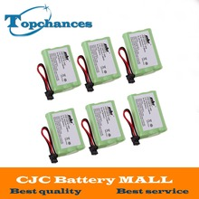 6PCS/lot Rechargeable Cordless Home Phone Battery for Uniden BT-909 BT909 3*AAA Ni-MH 800mAh 3.6V Free Shipping