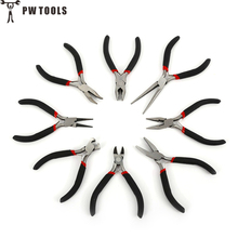 PW TOOLS 1Pc Practical Mini Pliers Nipper Hand Tools Electrical Wire Cable Cutters Cutting Side Snips Flush Pliers Hand Tools