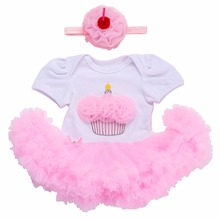 Girl Baby Dress Birthday For Newborns Headband Set,New Born Girl Clothes Cupcakes Toddler,Designer Infant Menina Baby Clothing