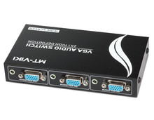 2 Port Mini VGA Switcher Manual VGA Switch two hosts share one monitor PC Video Share KVM controller(China)
