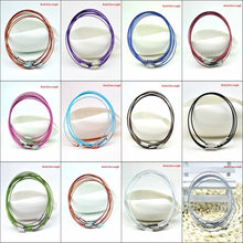 10pcs Mixed Color 1mm Stainless Steel Bracelet Wire Cord For DIY Craft Jewelry Length 9inch 23cm(China)
