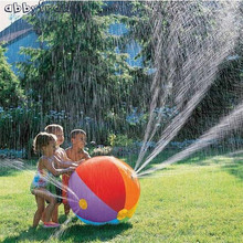 Abbyfrank Environmental Protection Inflatable Water Polo Colorful Swimming Pool Summer Beach Lawn Water Spray Ball Outdoor Toys(China)