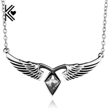 Movie Jewelry The Mortal Instruments: City Of Bones Crystal Enamel Wing Statement Necklace Vintage Women Collares Chain Necklace(China)