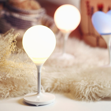 LED Wireless Night Light Silica Gel+aluminum+PVC Love Balloon Lights 12V Charge Baby Feeding Light Touch Bedroom bedside lamp