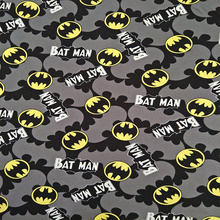 150X100cm Gray Batman Logo Knitted Cotton Fabric for Baby Clothes Sewing Textile Tilda Tecido Patchwork DIY-AFCK016