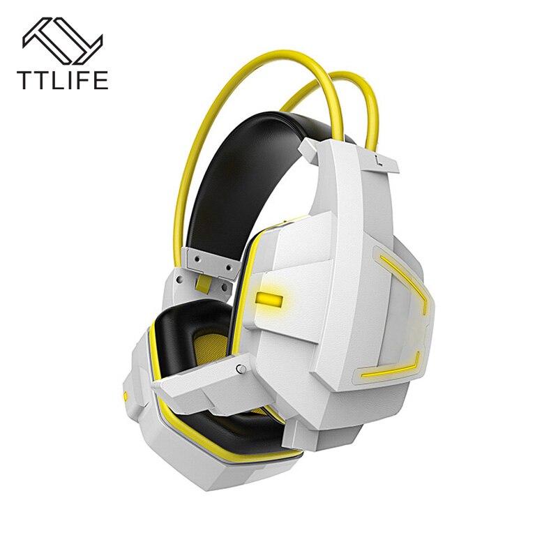 TTLIFE Best PC Gamer Casque Hifi Gaming Headphone Earphone Head Phones With Microphone Lights Glow Game Headset Fones <br><br>Aliexpress