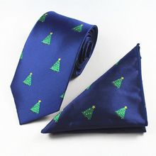 GUSLESON New Quality Mens Silk Tie Set Necktie Hanky Pocket Square Gravata Animal Christmas Ties Fashion Wedding Tie For Men(China)