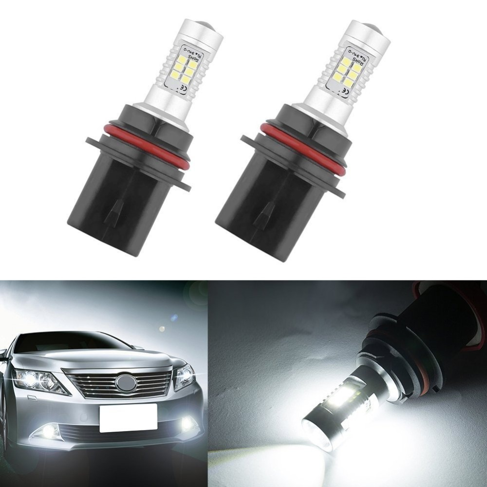 2pcs Bright White 9007 HB5 21W Samsung LED High Low Beam Driving Fog lights Bulbs DRL Light Headlight<br><br>Aliexpress