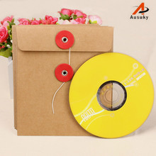 A Ausuky 5pcs Kraft Single CD CD Bag Quality Kraft Paper DVD Bags Cover Envelope Sleeve Holding -25(China)