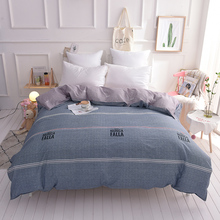 European Gray Black Letters Pattern Bedding 100% Cotton Twin Full Queen King Size Duvet Cover Quilts Comforter Case 1Pcs Cotton(China)