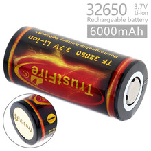 TrustFire 6000mah 3.7V 32650 Lithium Li ion Rechargeable Battery With PCB Protected for LED Flashlight