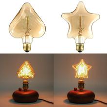 Buy Vintage Edison Bulb E27 40W 13 Anchors Heart Star Retro Filament Light Tungsten Lamp Bulb Warm White Lighting Home Decor AC220V for $10.22 in AliExpress store