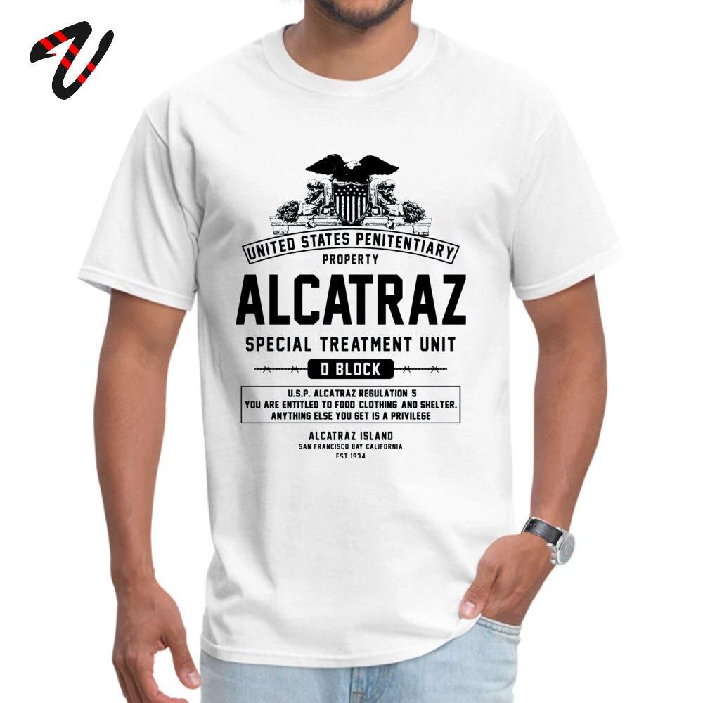 ALCATRAZ S.T.U. Newest Short Sleeve Geek Top T-shirts 100% Cotton O-Neck Men Tops Shirt Birthday T Shirts ostern Day ALCATRAZ S.T.U. 6276 white